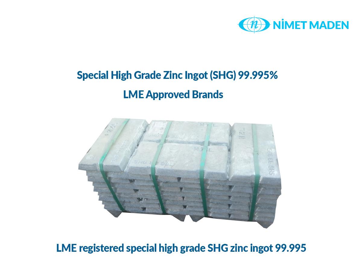 Special High Grade Zinc Ingot (SHG) 99.995%